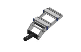 "2"" Double Hitch Assembly Slotted"