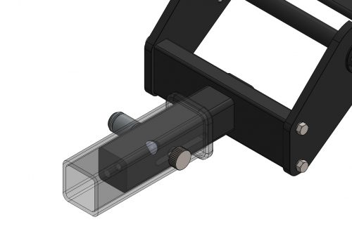 """2"""" Hitch Bar Slotted with Side Plates"""